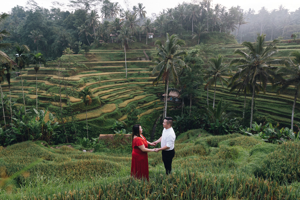 engagement photo shoot rice terraces ubud