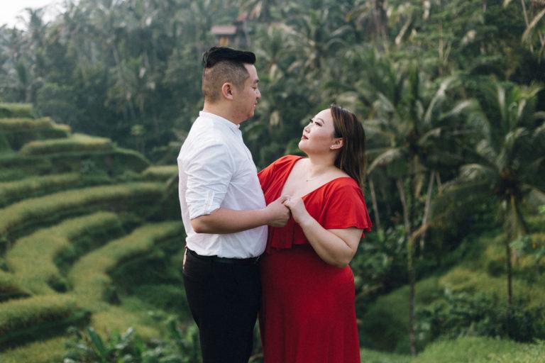 engagement photo shoot rice terraces tegalalang